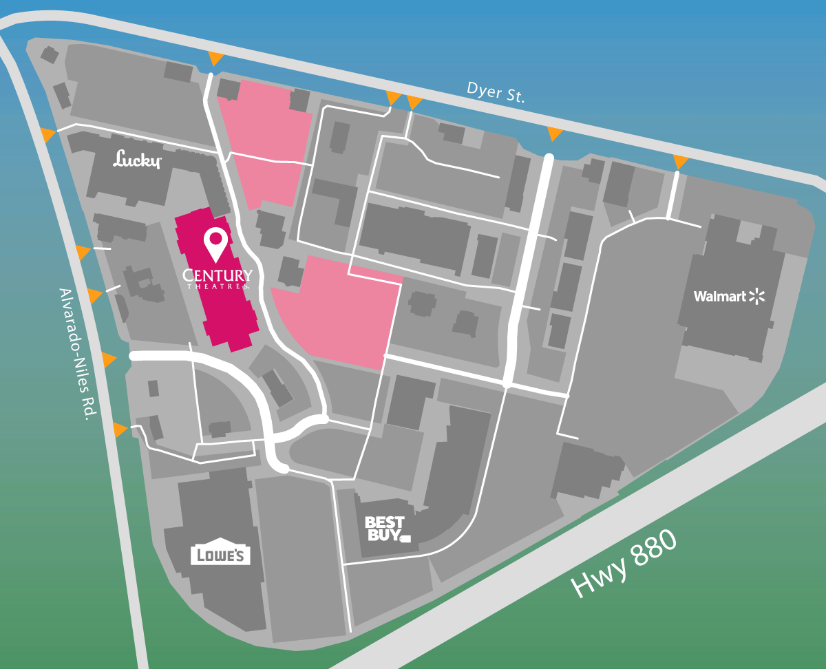 Parking map of Century Theater.
