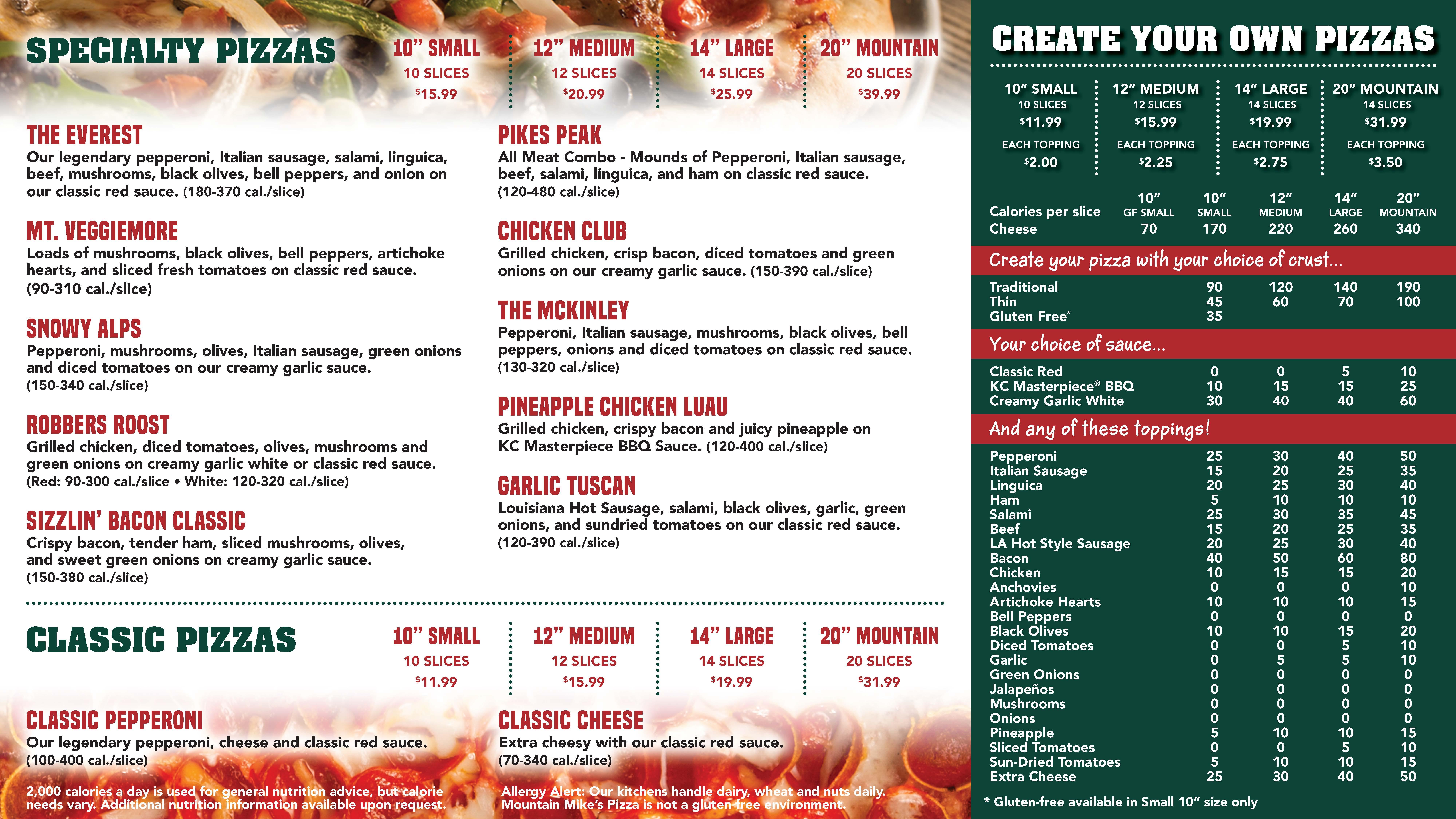 Image of a pizza menu.