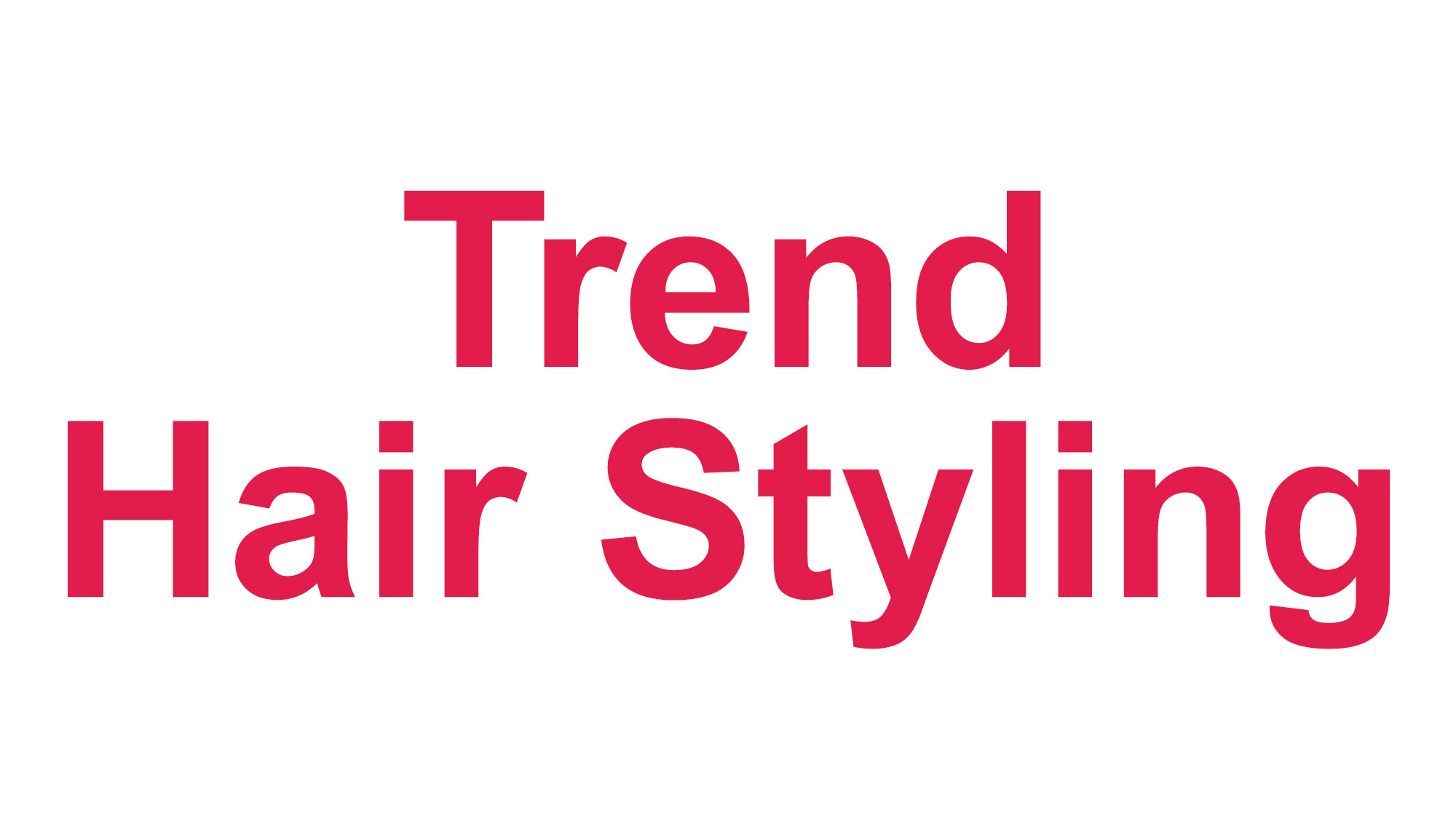 Trend Hair Styling salon logo