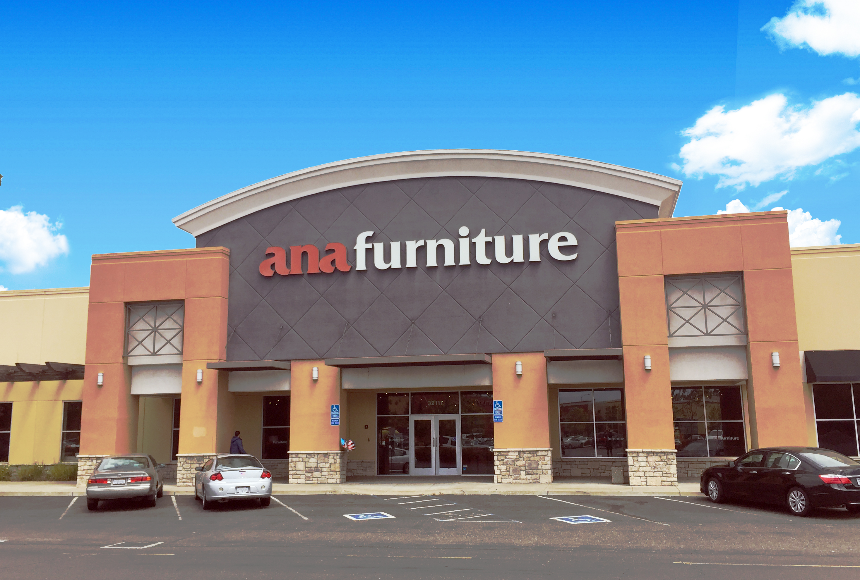 Store front of Ana Furniture.