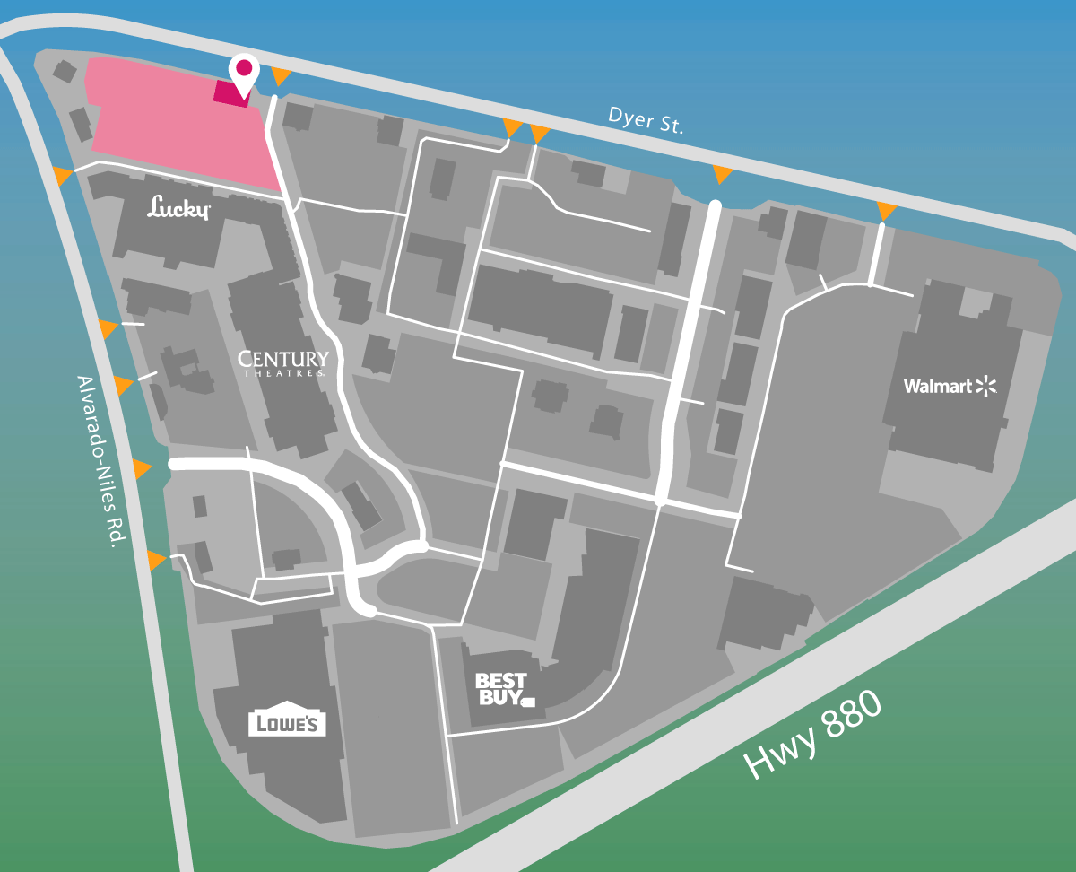 Parking map for Waggin Tails.