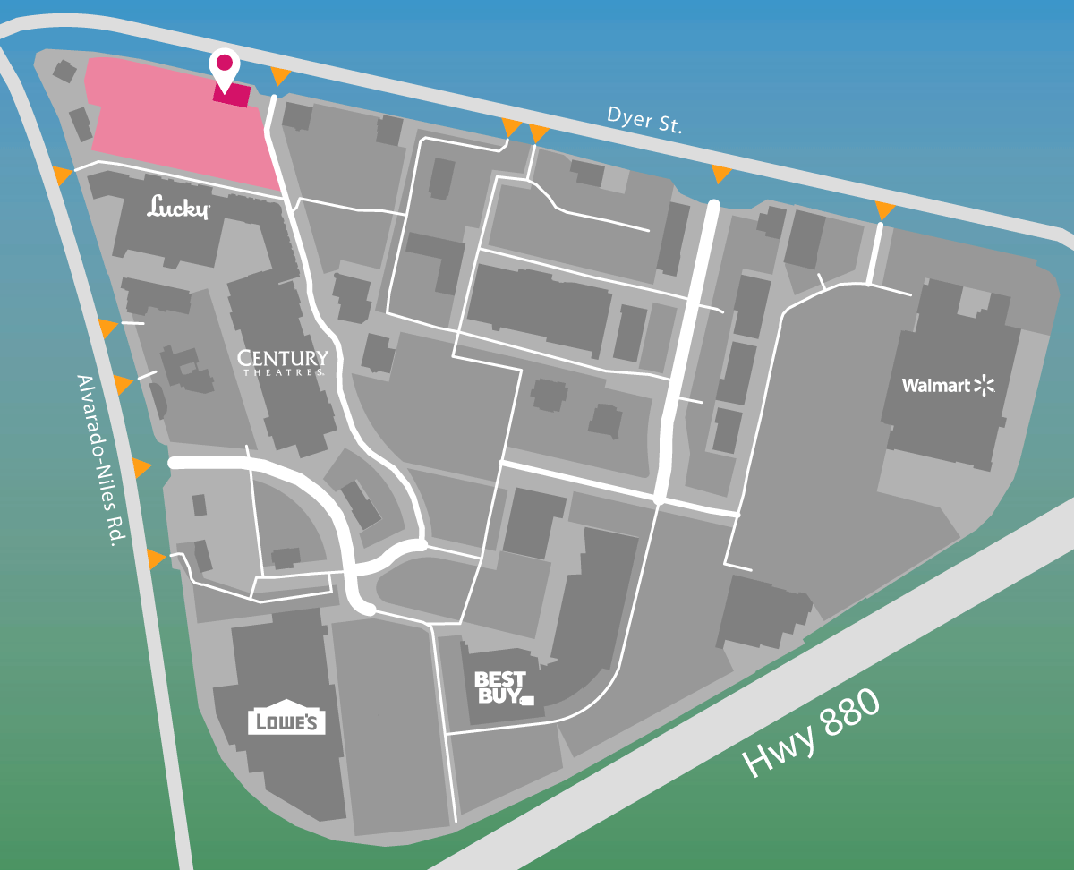 Parking map for Frozone Gelato.
