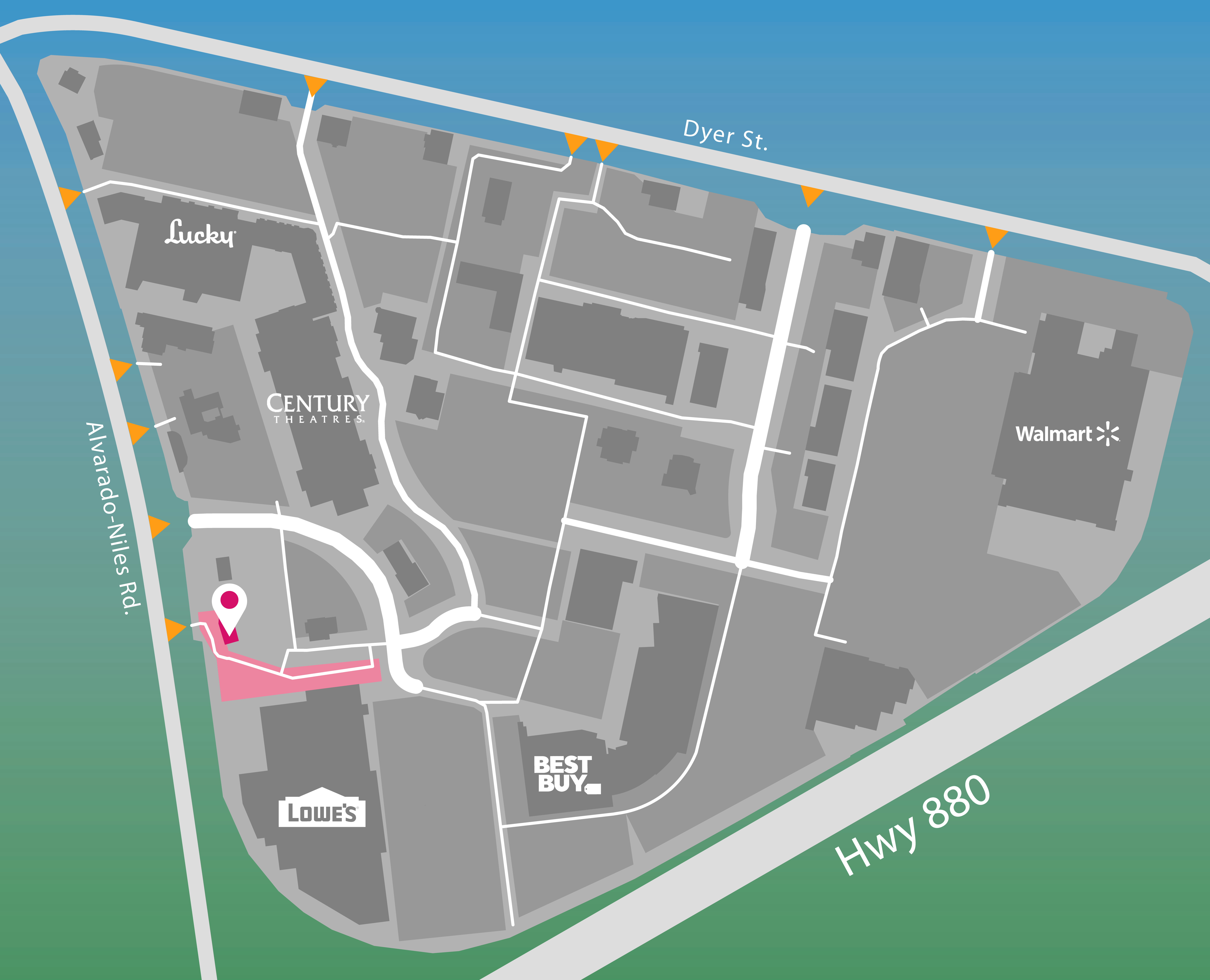 Parking map for iFly.