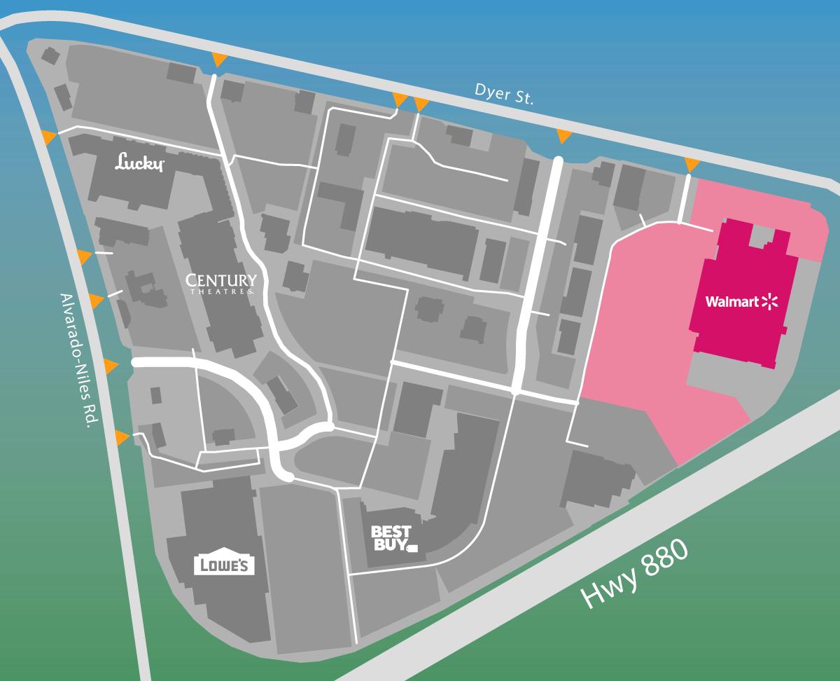 Parking map of Walmart.