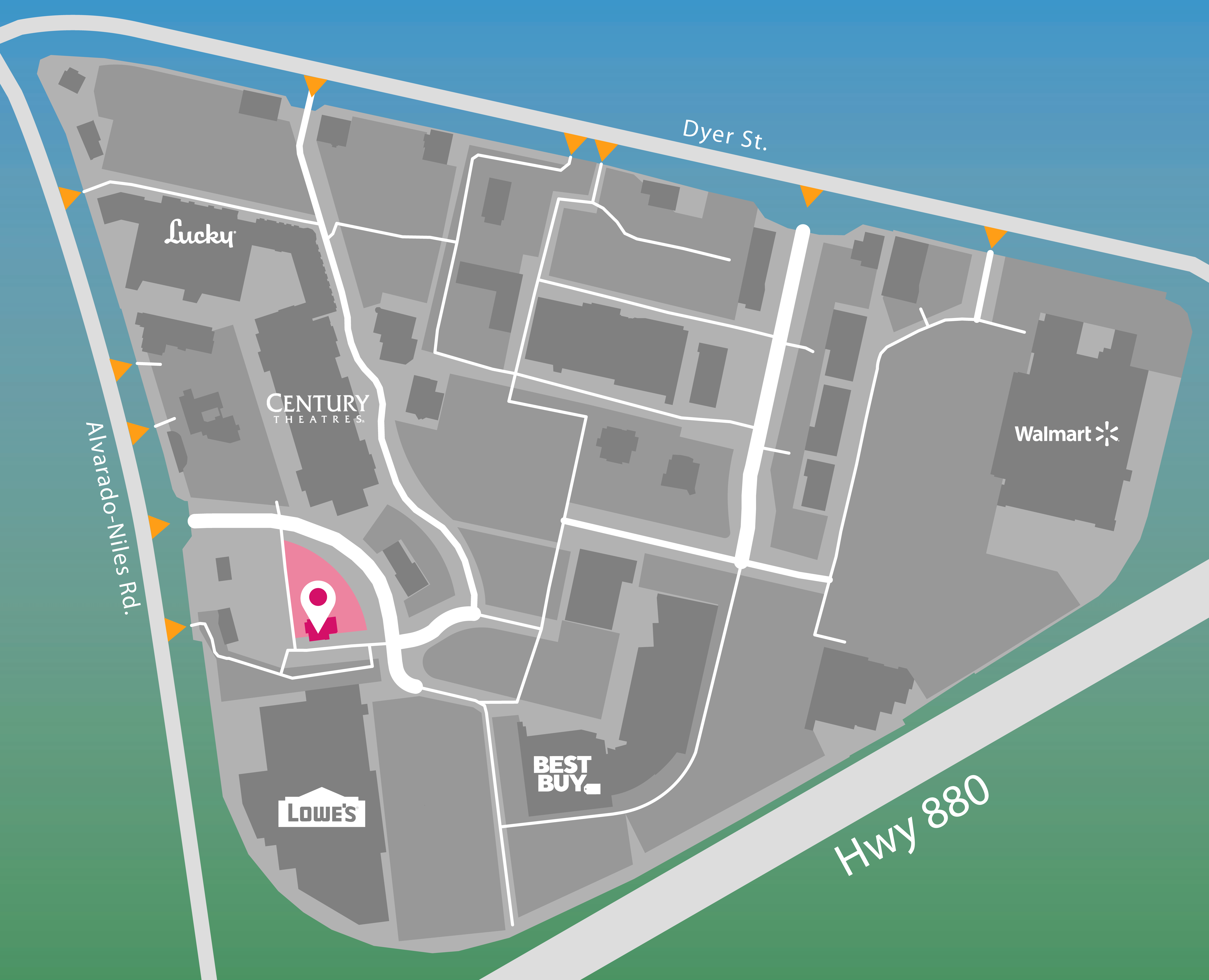 Parking map for In-N-Out Burger.