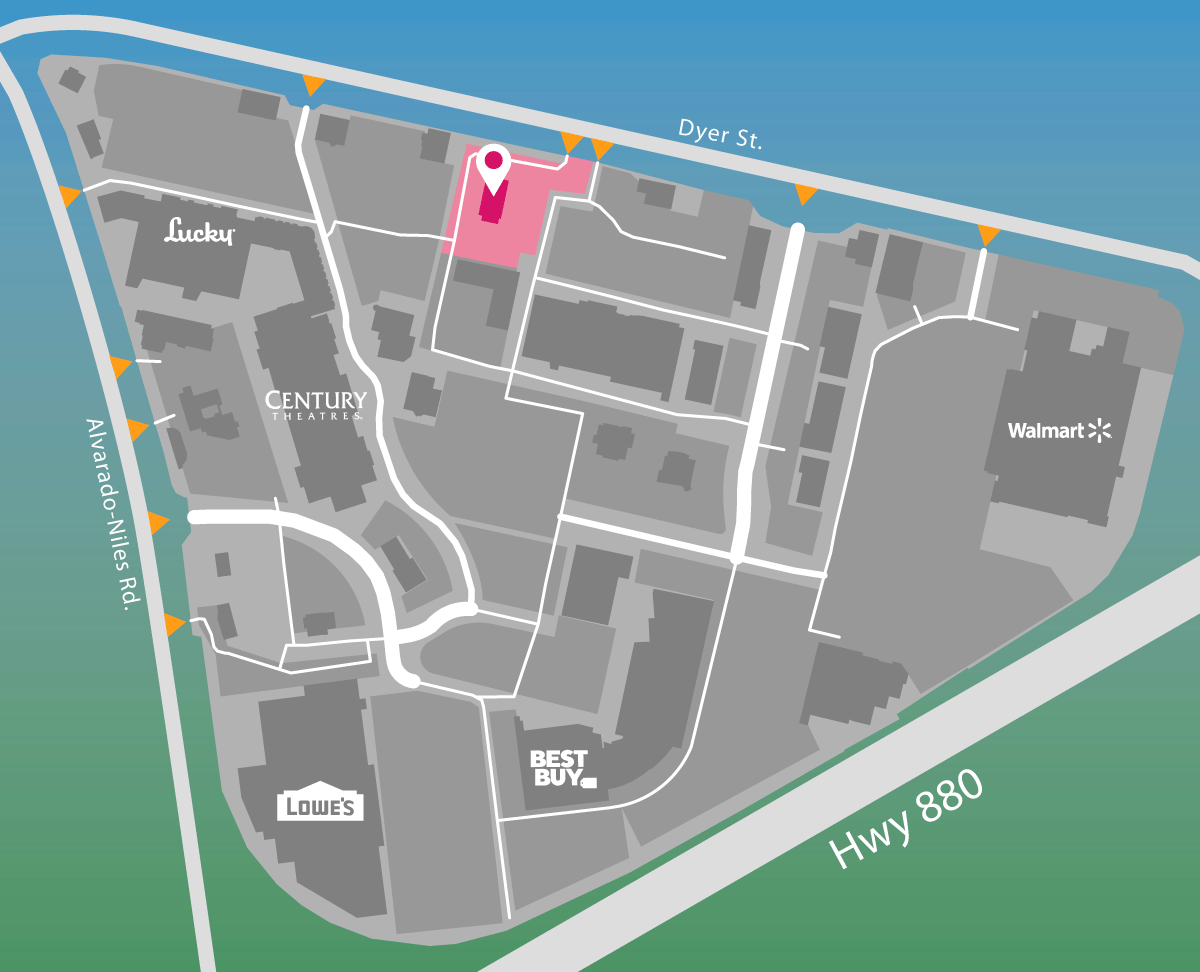 Parking map for TGI Fridays.