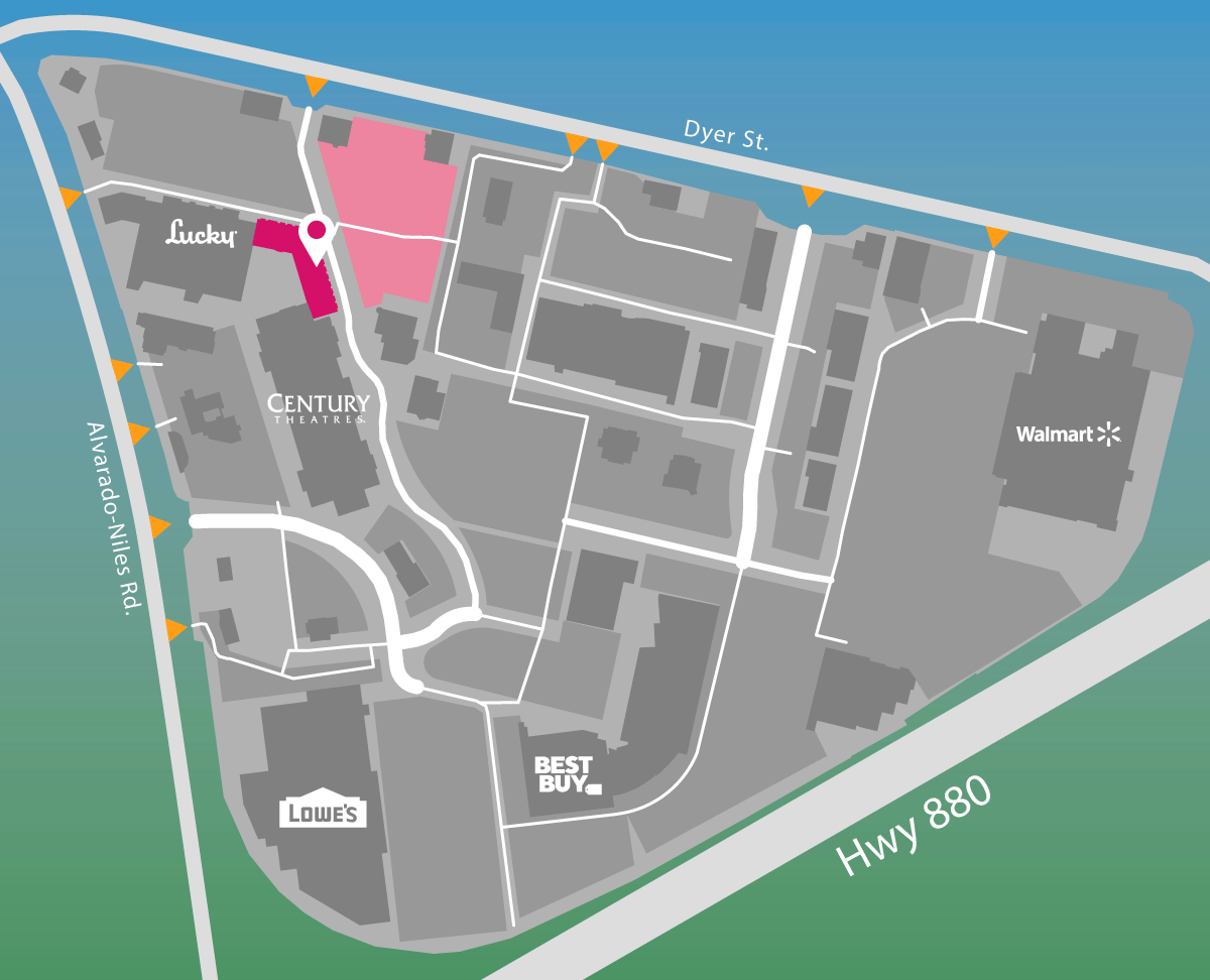 Parking map of Pacific Pour House.