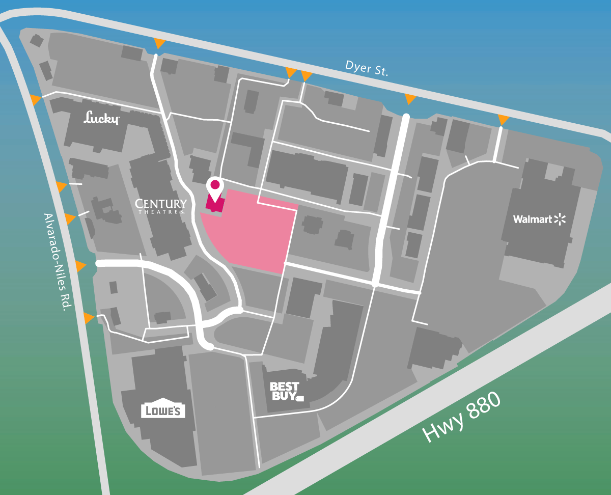 Parking map of Buffalo Wild Wings.