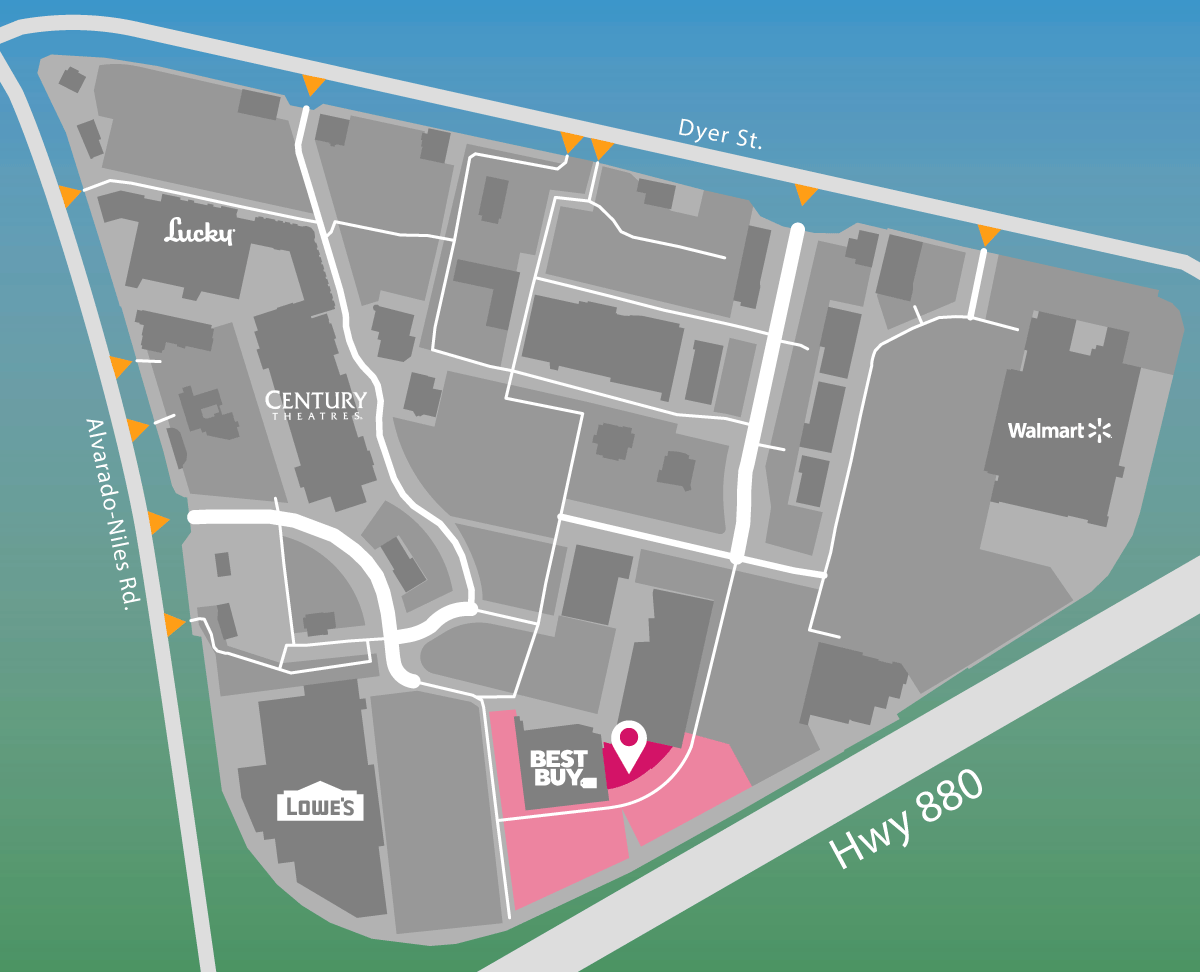 Parking map of Tuesday Morning.