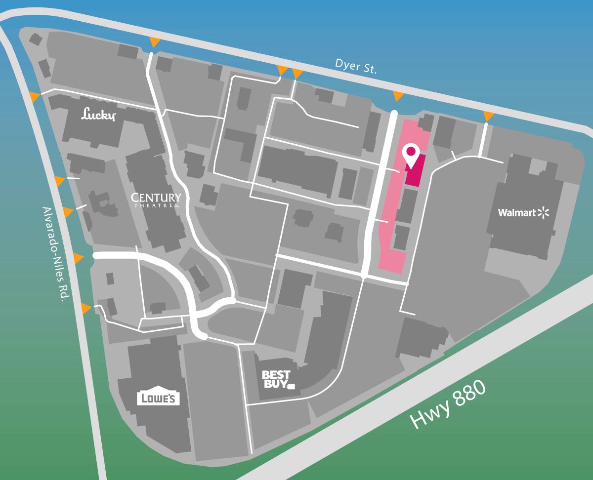Parking map for Massage Envy.