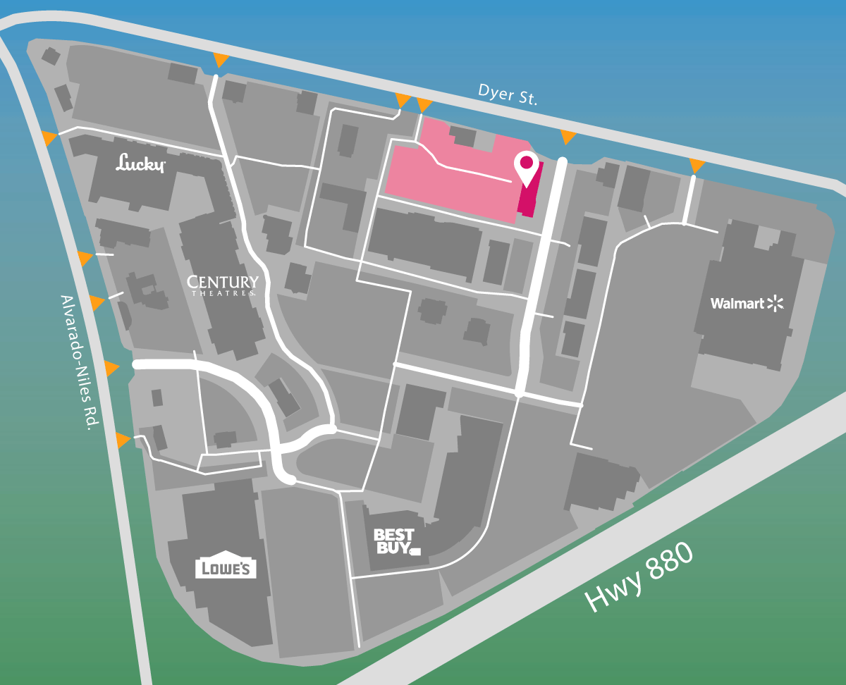 Parking map for AT&T.