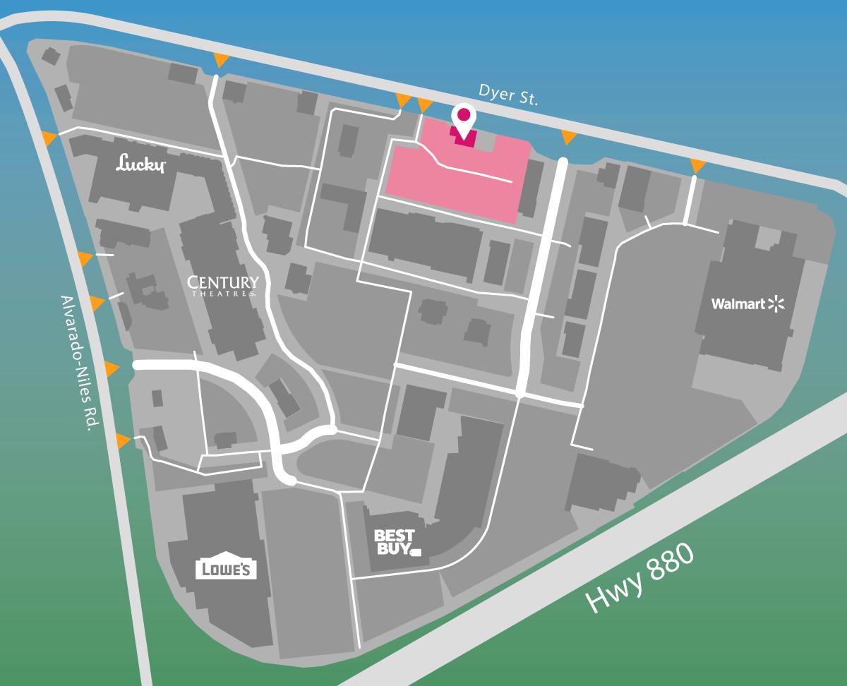 Parking map of Ocean Bar.