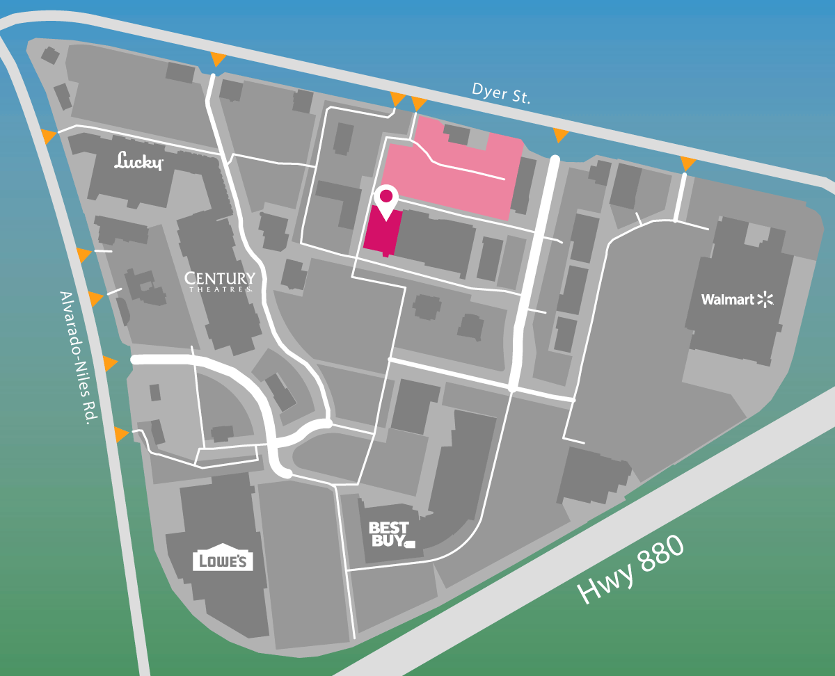 Parking map for Petco.