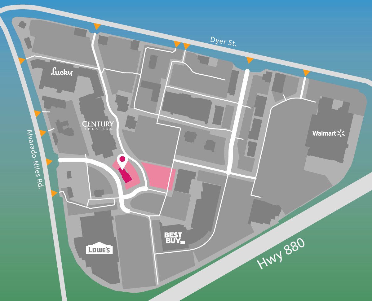 Parking map for The Vitamin Shoppe.