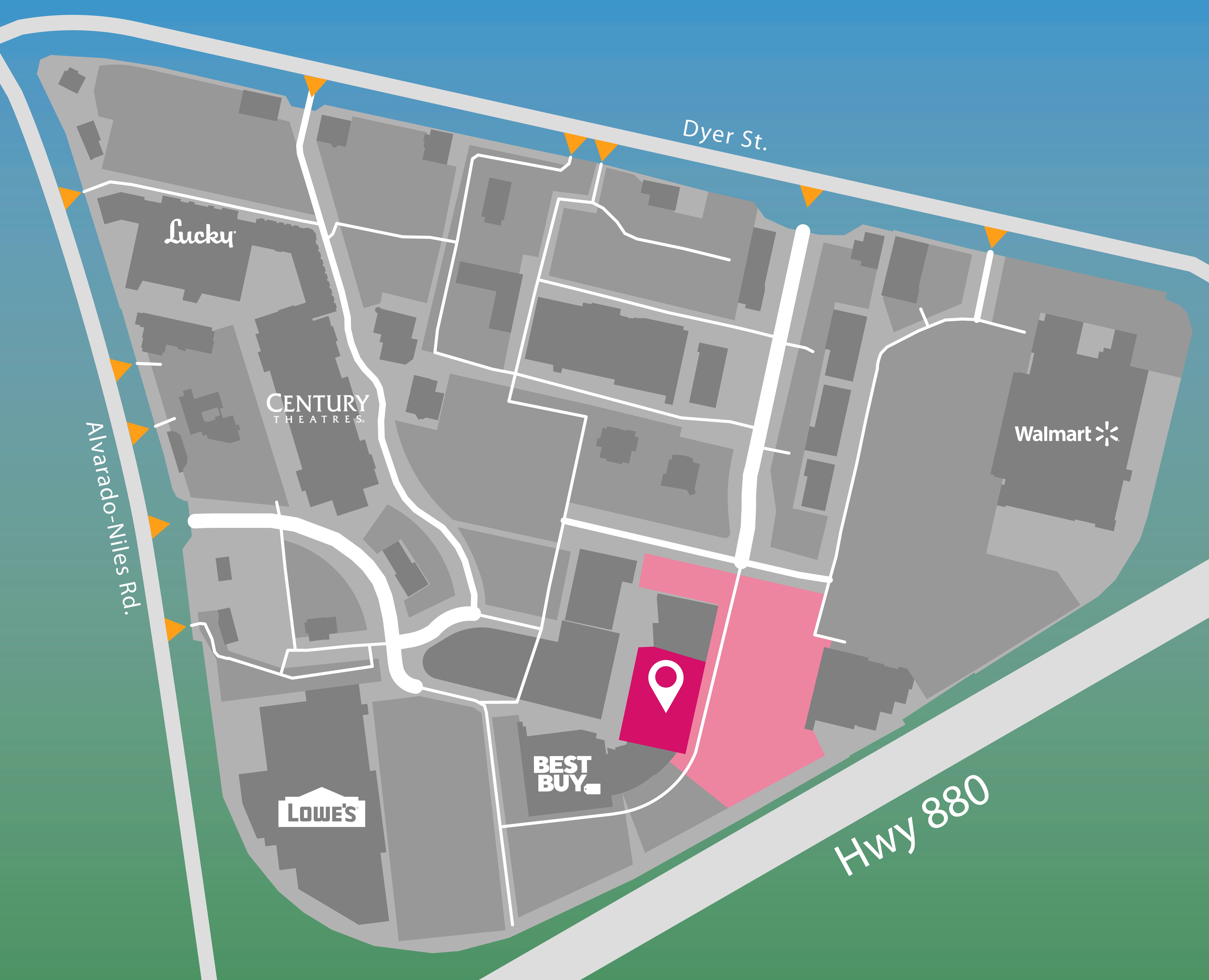 Union Landing parking map