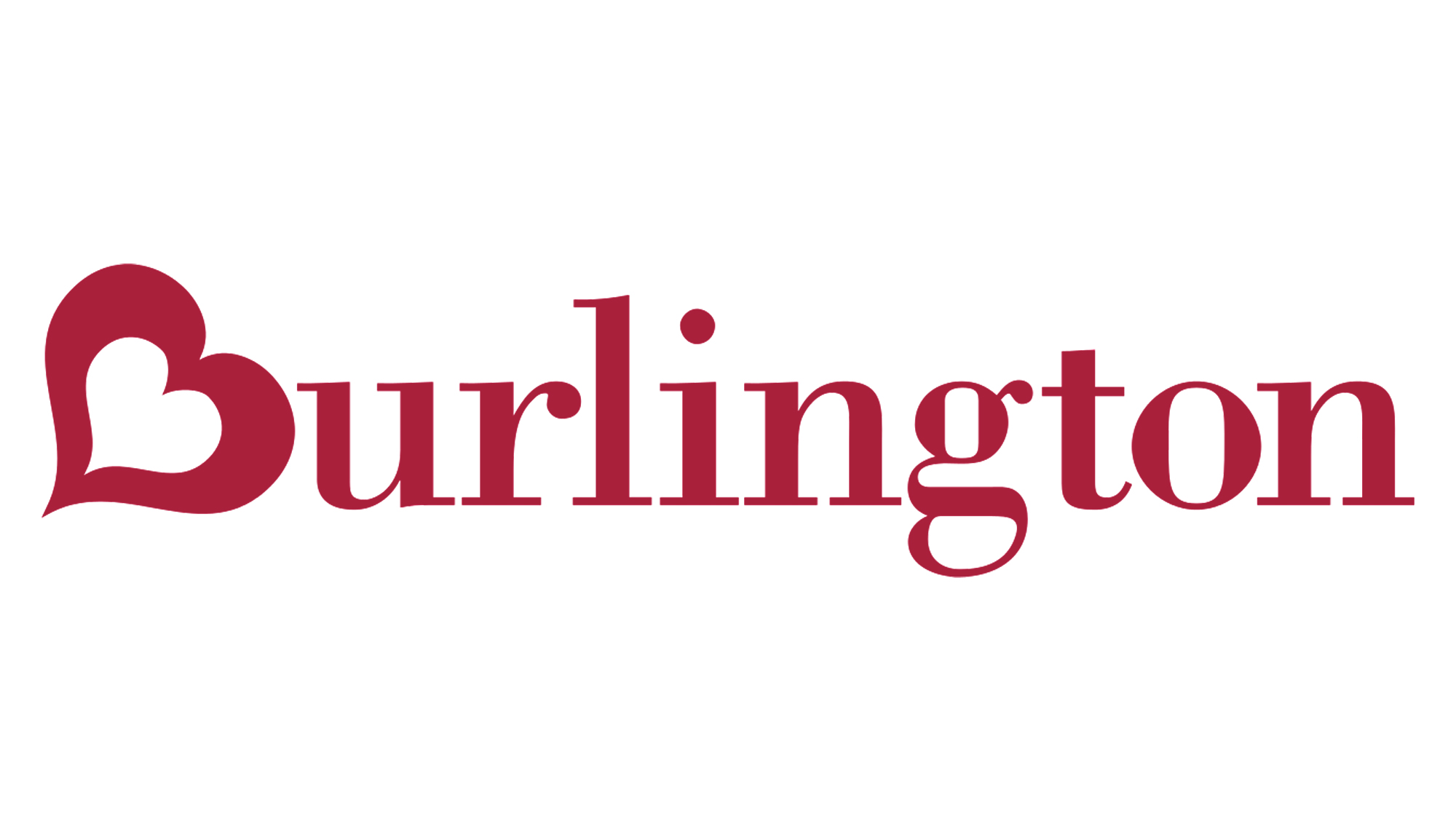 Burlington coat factory logo on a white background.