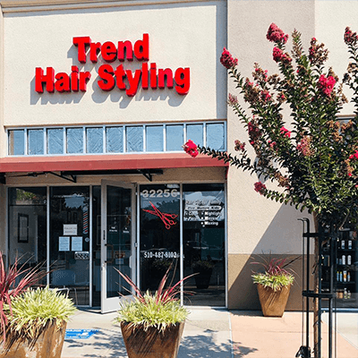 Trend Hair Styling front entrance.